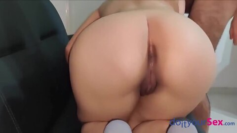 Deep anal sex from behind